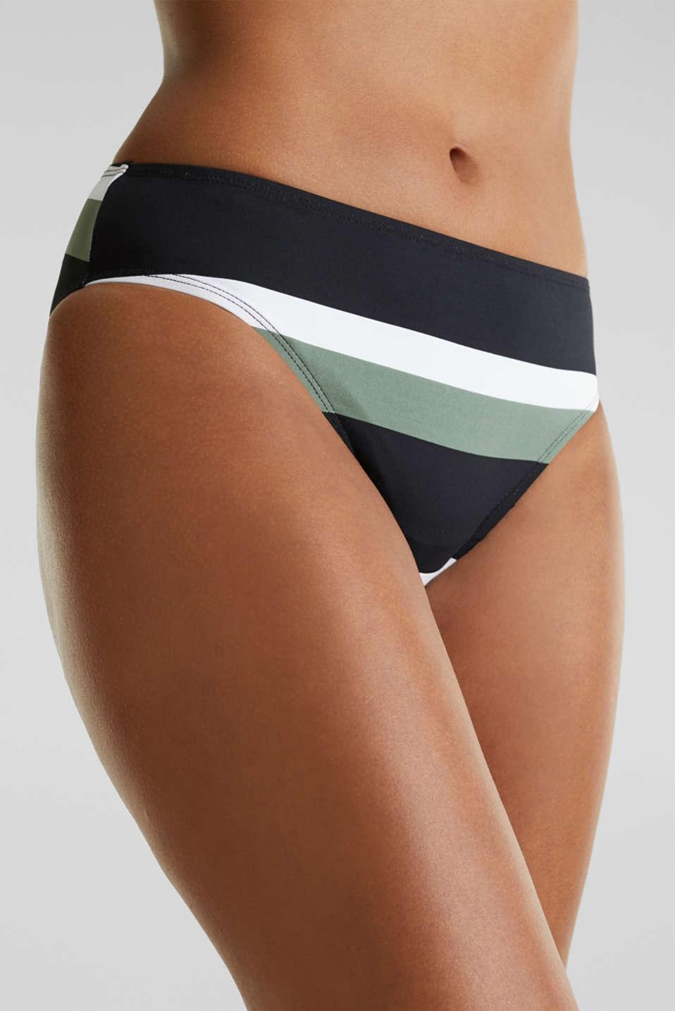 Midi briefs with block stripes, LIGHT KHAKI, detail image number 1