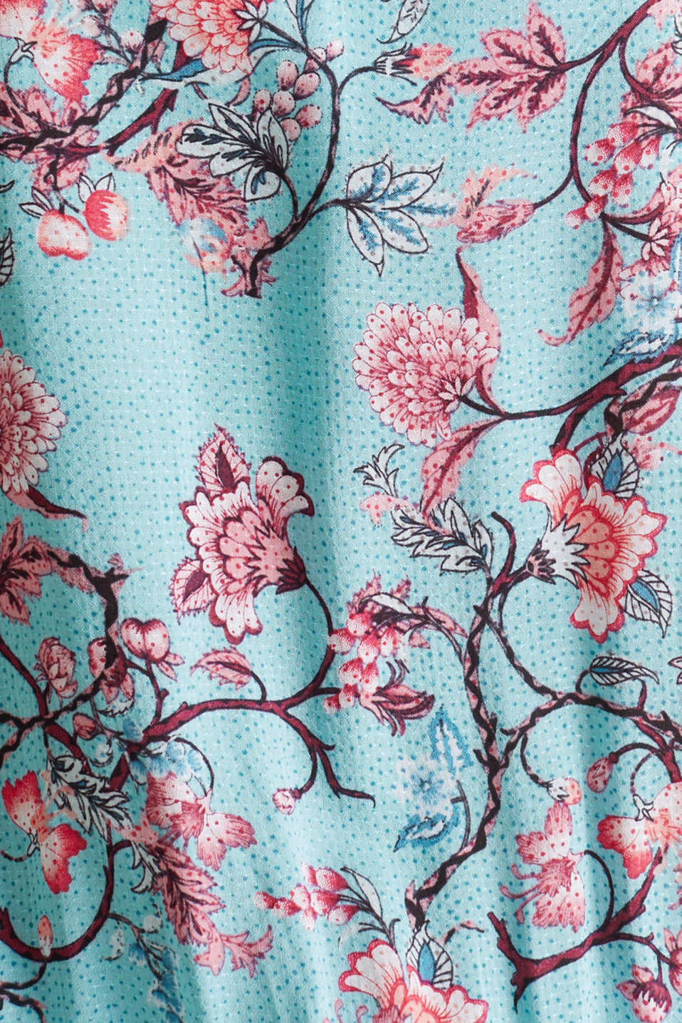 Mini dress with print and tassels, TURQUOISE, detail image number 4
