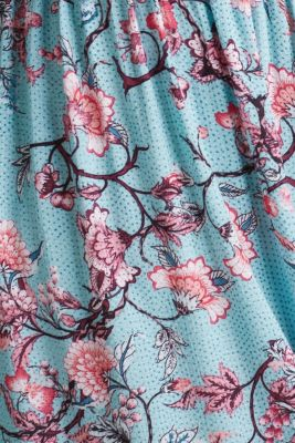 Maxi dress with tassels and a print, TURQUOISE, detail