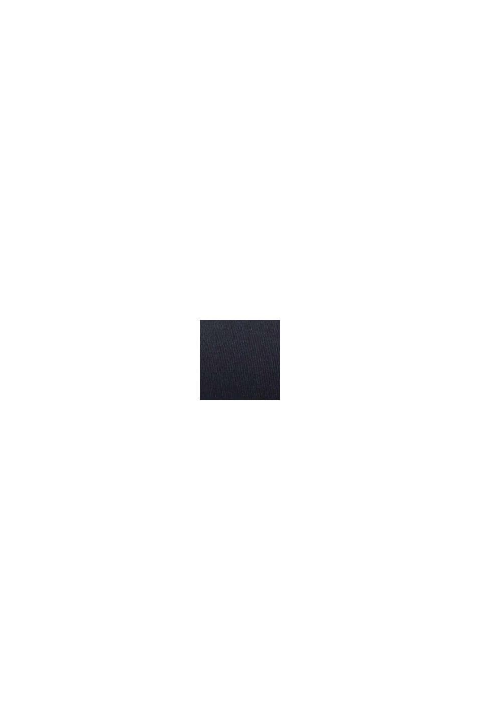 Wattiertes Neckholder-Top mit Bügeln, BLACK, swatch