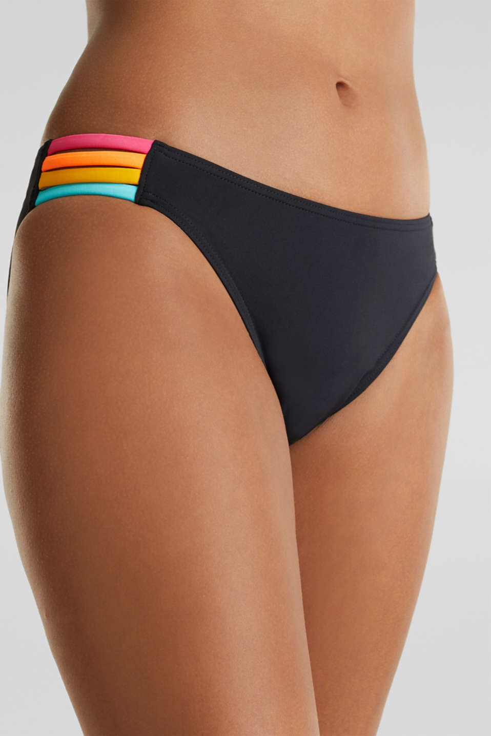 Mini briefs with multi-colour ties, BLACK, detail image number 2