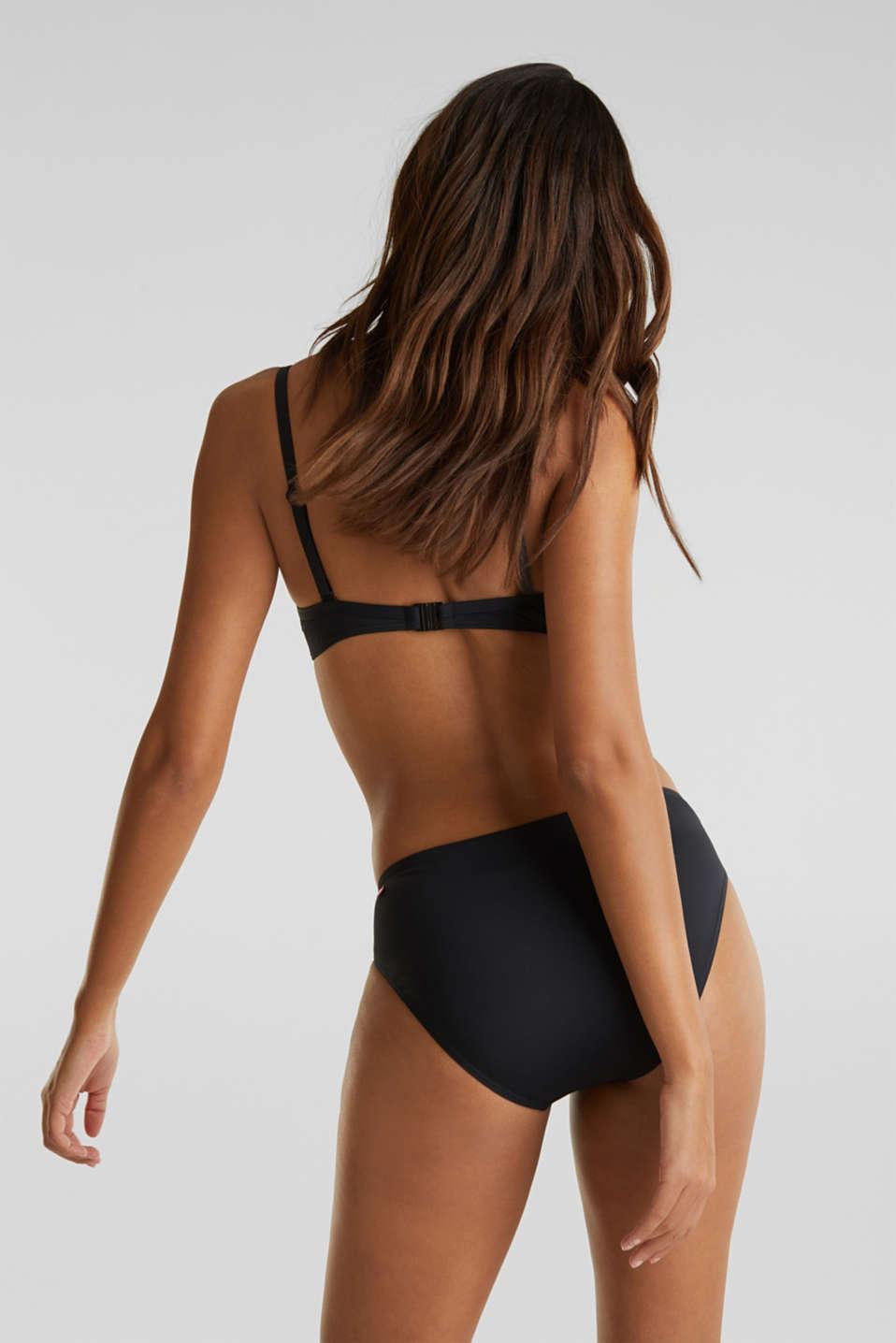 Midi bikini bottoms with a multi-colour trim, BLACK, detail image number 2