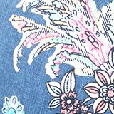 Printed, padded underwire bikini top, GREY BLUE, swatch