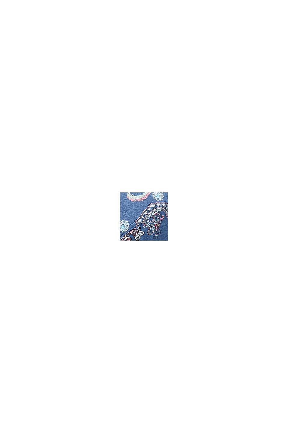 Reggiseno effetto denim con stampa e ferretto, GREY BLUE, swatch
