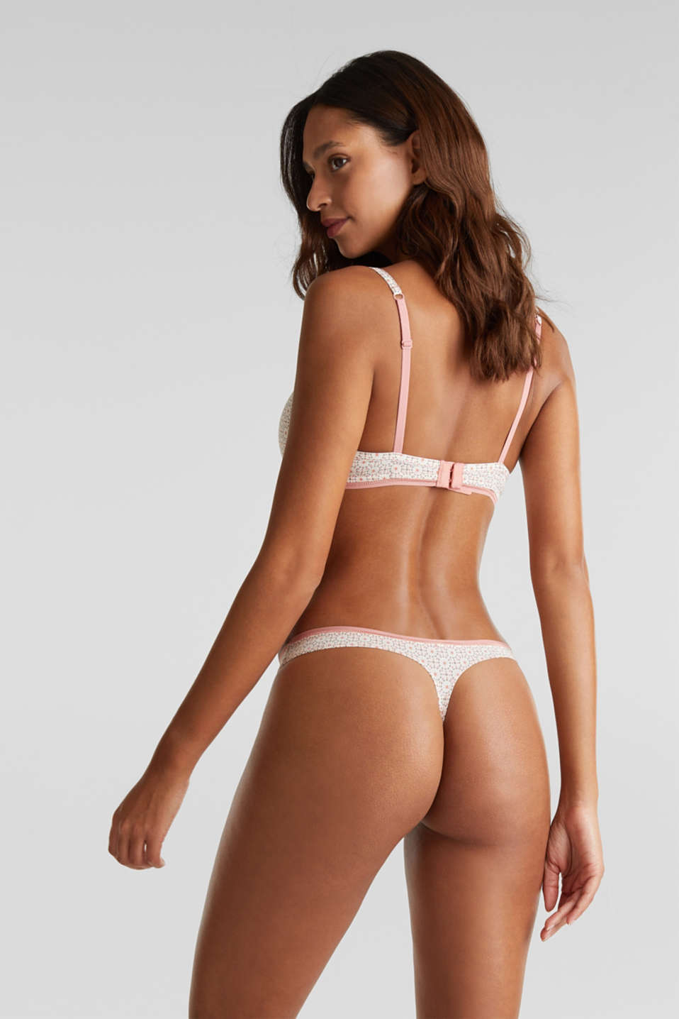 Hipster thong with a mini print, LIGHT TAUPE, detail image number 2
