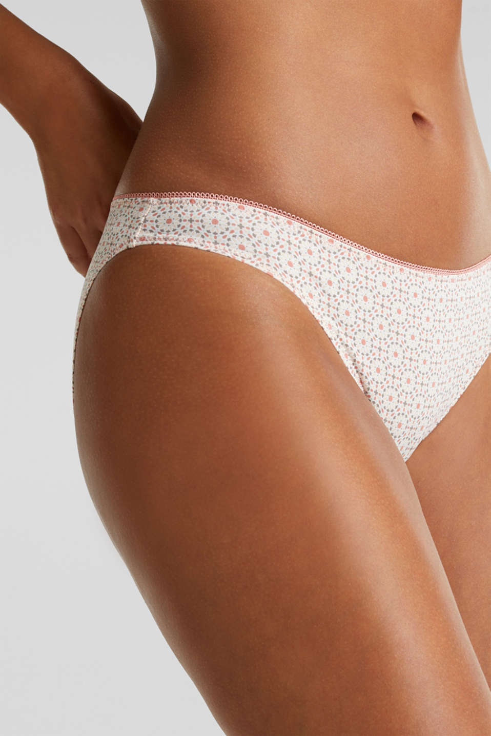 Double pack: Printed hipster briefs, LIGHT TAUPE, detail image number 1