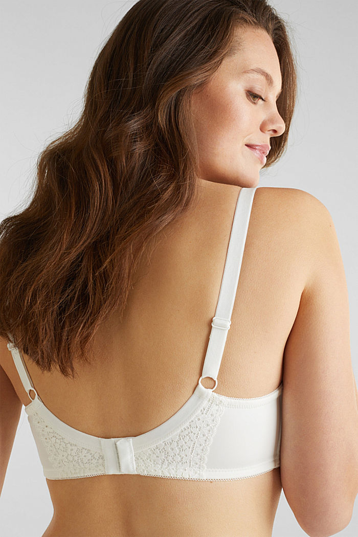 Padded underwire bra with crocheted lace, OFF WHITE, detail image number 5