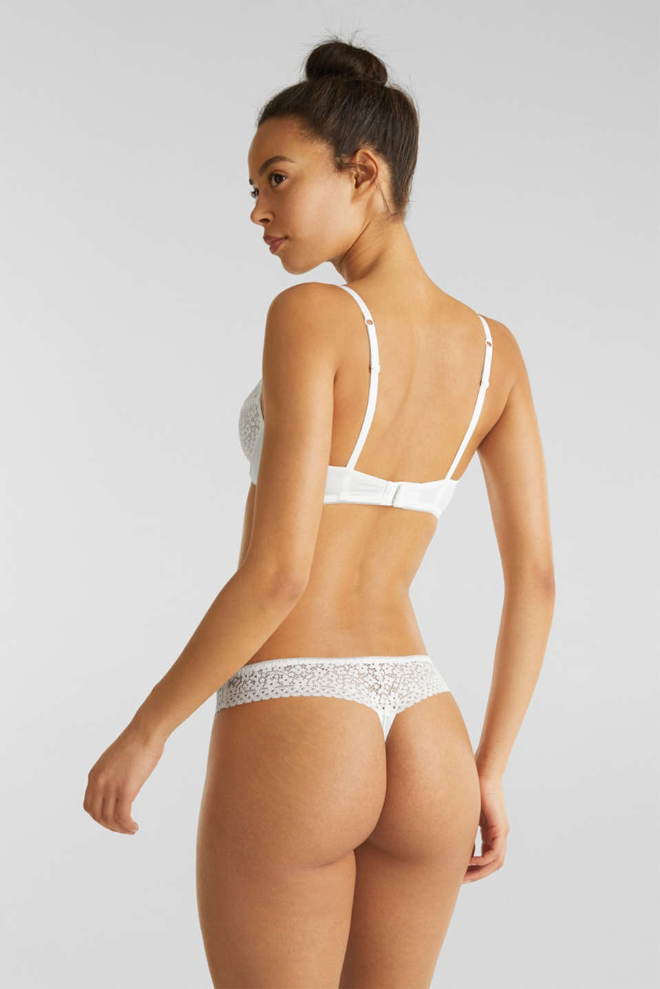 Hipster thong with crocheted lace, OFF WHITE, detail image number 2