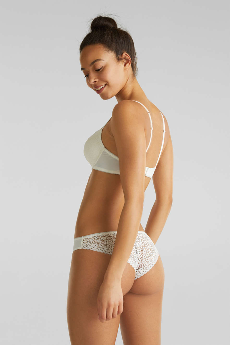 Hipster briefs with crocheted lace, OFF WHITE, detail image number 2