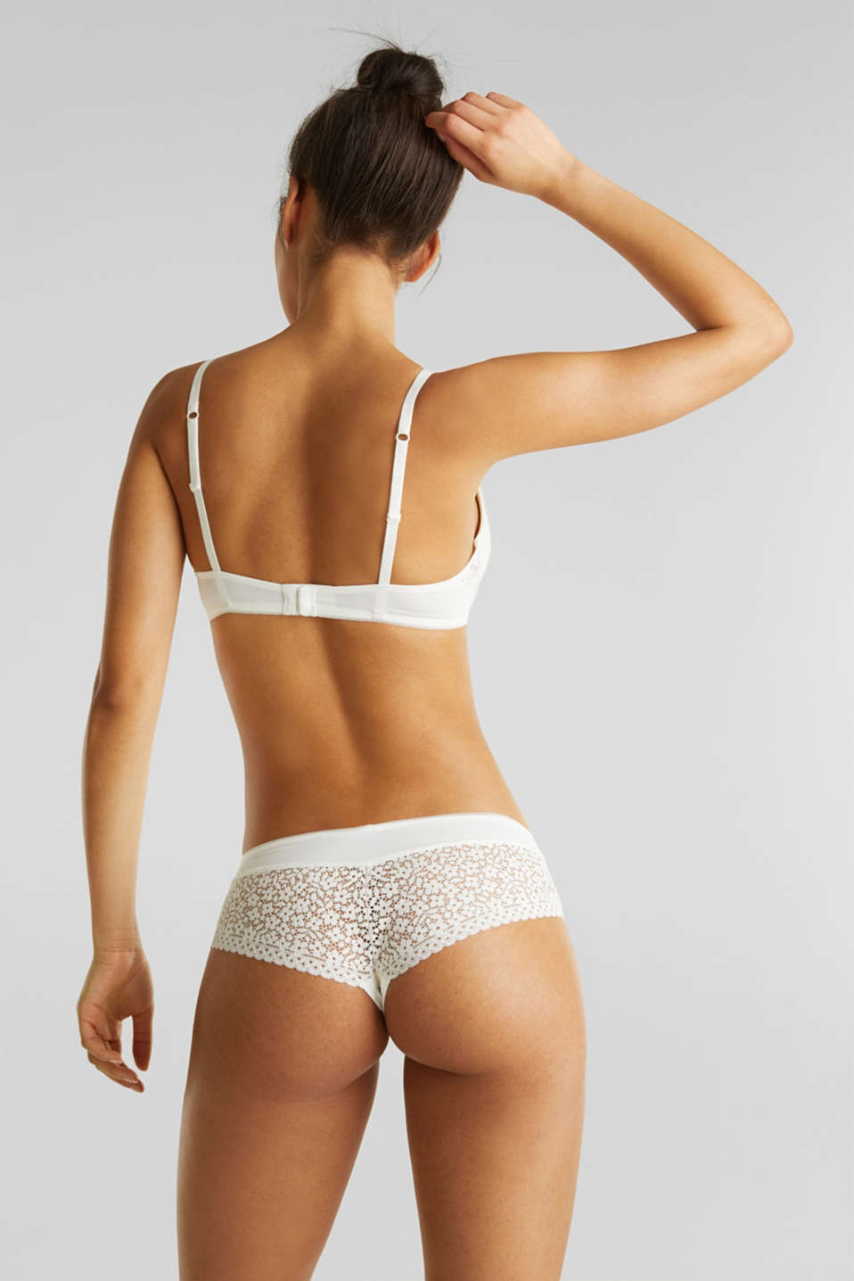 Hipster shorts with crocheted lace, OFF WHITE, detail image number 2