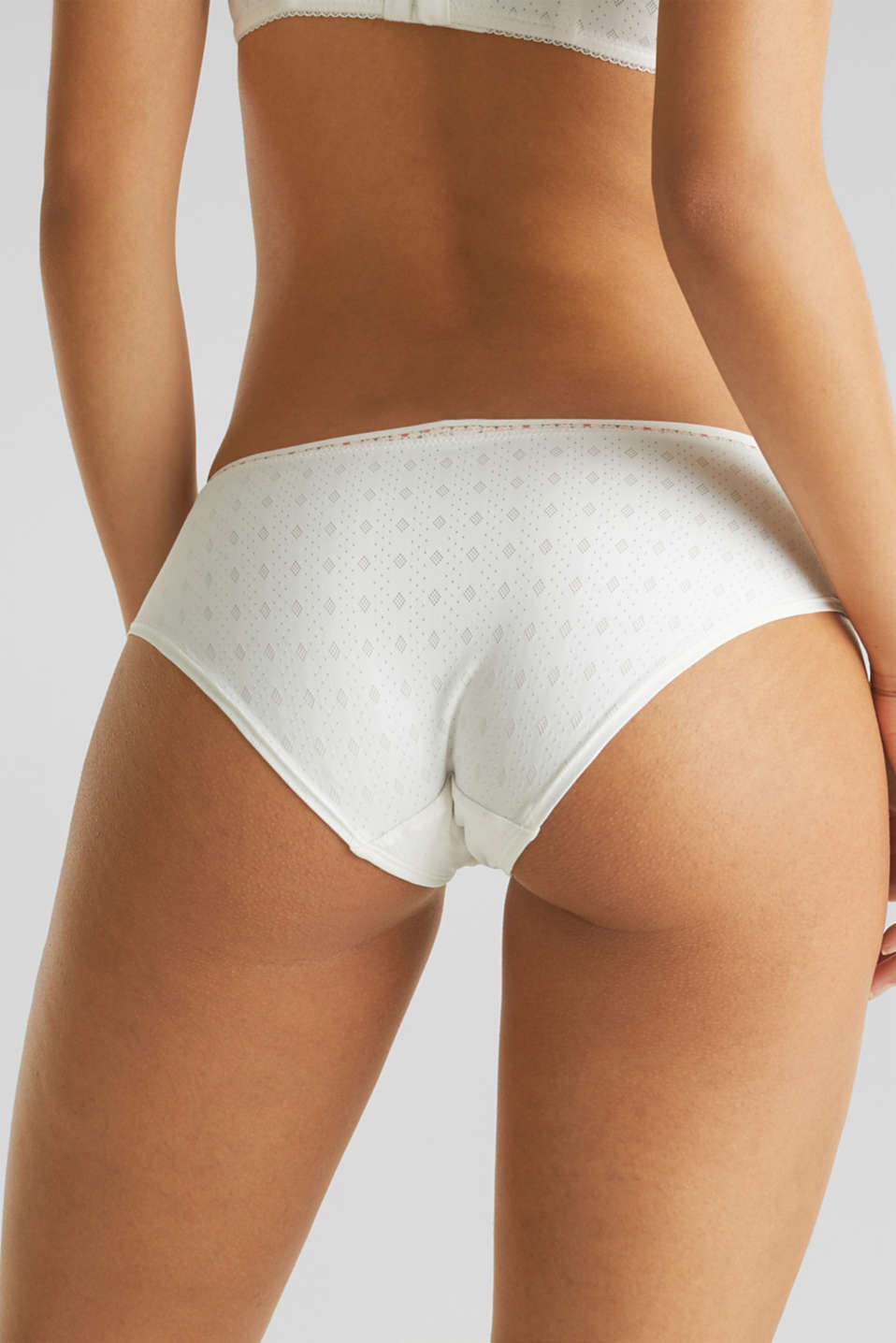 Hipster brief with a jacquard pattern, OFF WHITE, detail image number 3