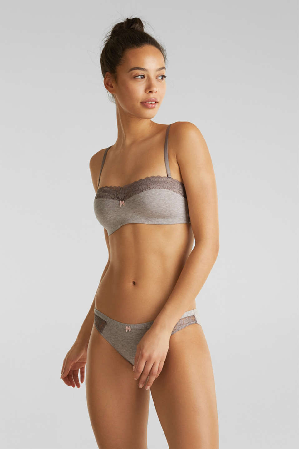 Esprit - Padded bikini top with detachable straps