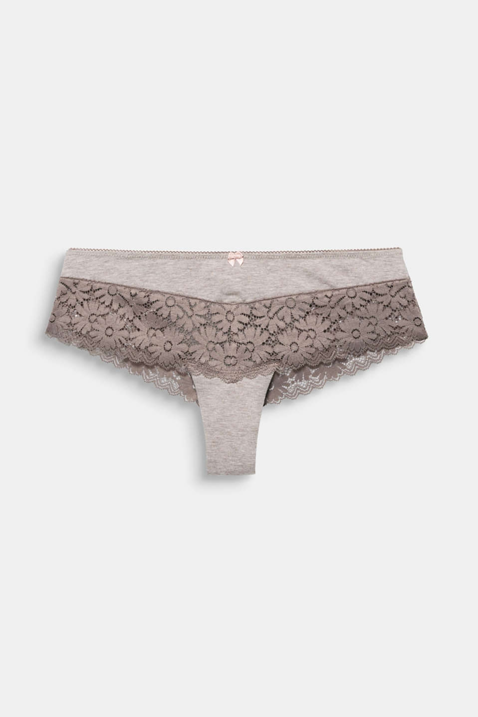 Jersey/lace hipster shorts, LIGHT TAUPE, detail image number 4