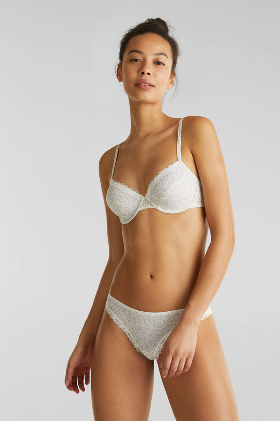 Unpadded underwire bra with multiway straps, OFF WHITE, detail image number 0
