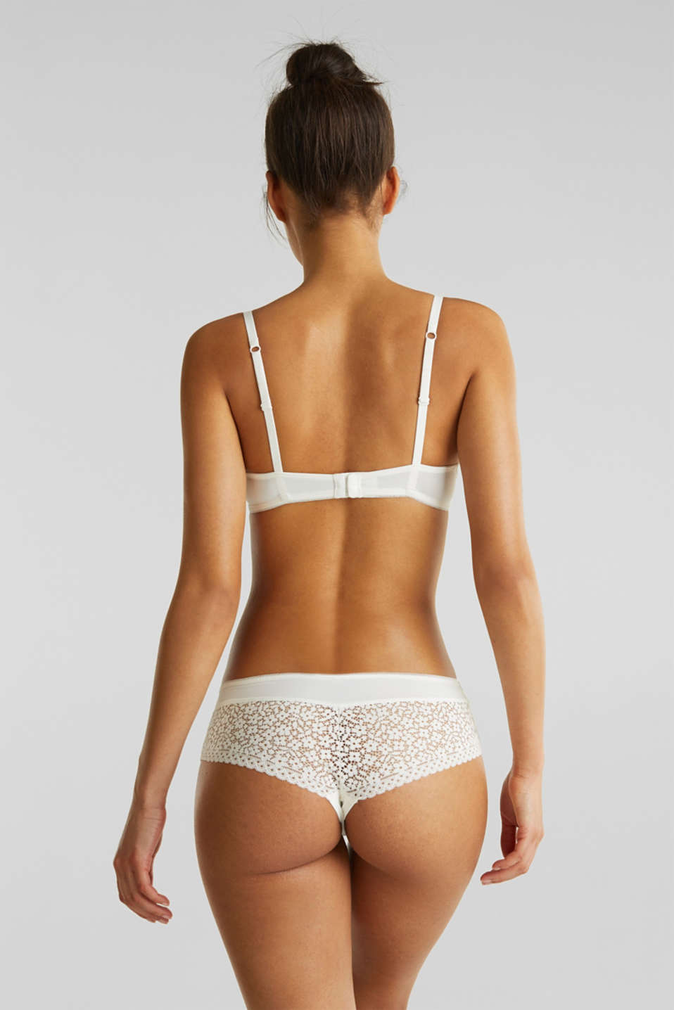 Padded push-up bra with crocheted lace, OFF WHITE, detail image number 1