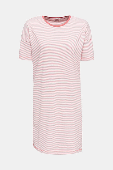 Nightshirt with stripes, 100% cotton