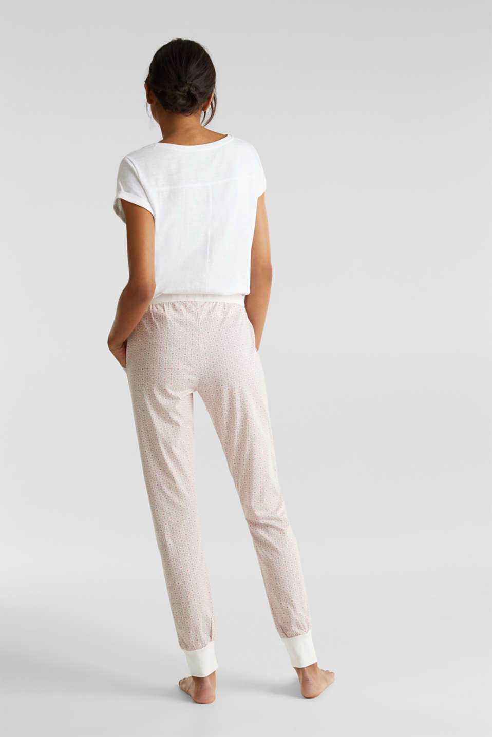 Jersey bottoms in 100% cotton, OFF WHITE, detail image number 2