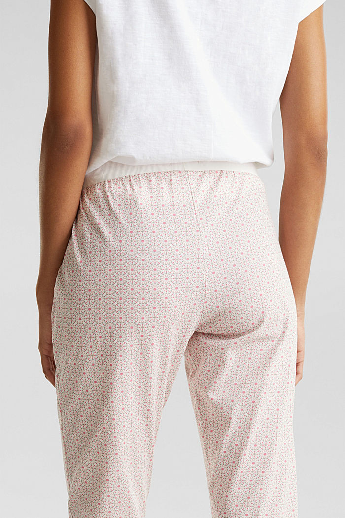 Jersey bottoms in 100% cotton, OFF WHITE, detail image number 4