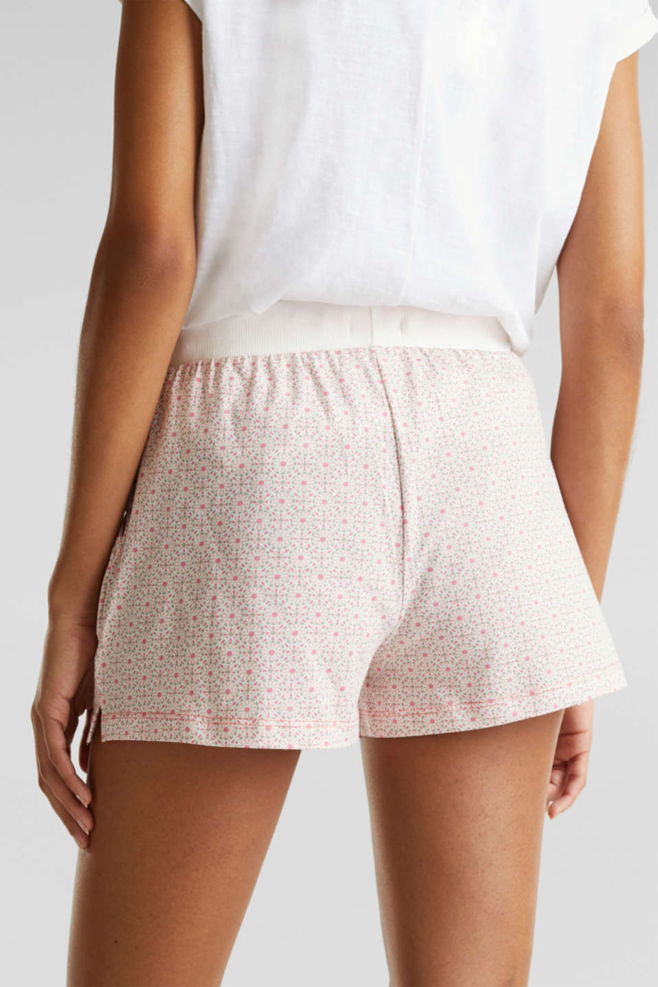 Jersey shorts in 100% cotton, OFF WHITE, detail image number 4