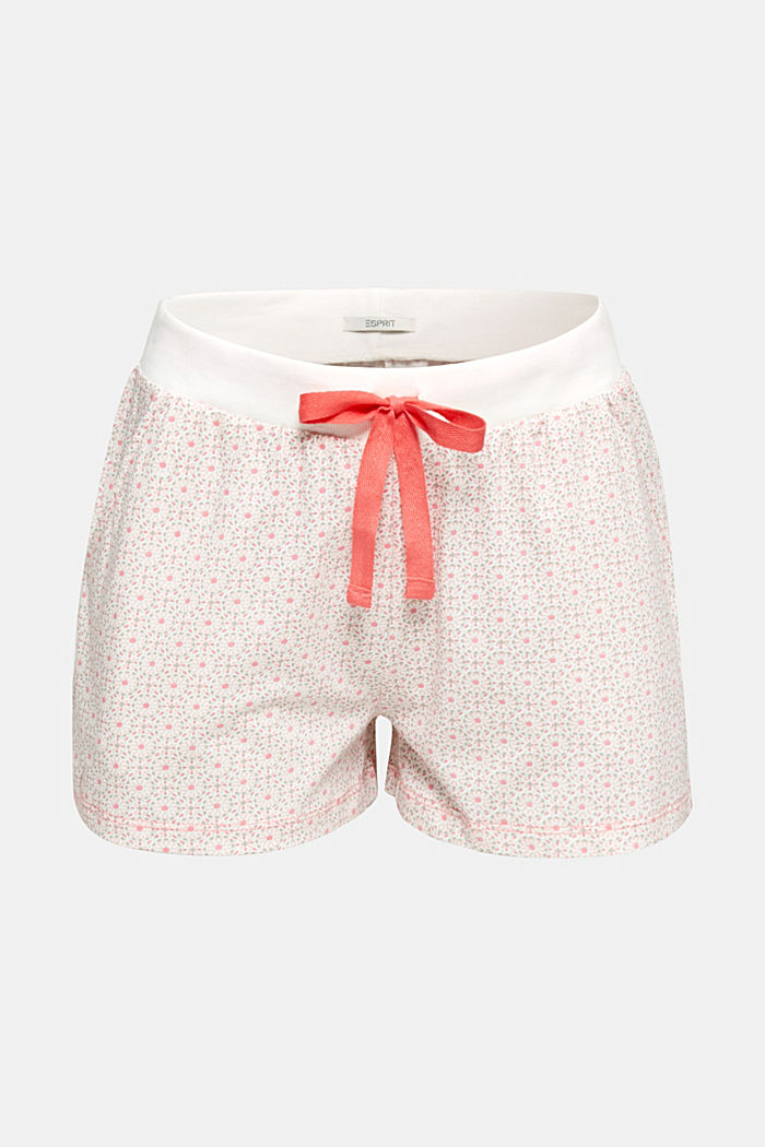 Jersey-Shorts aus 100% Baumwolle, OFF WHITE, detail image number 6