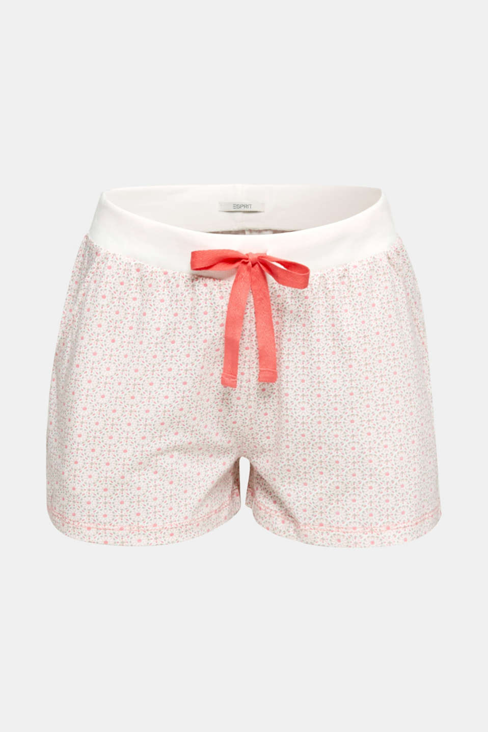 Jersey shorts in 100% cotton, OFF WHITE, detail image number 6