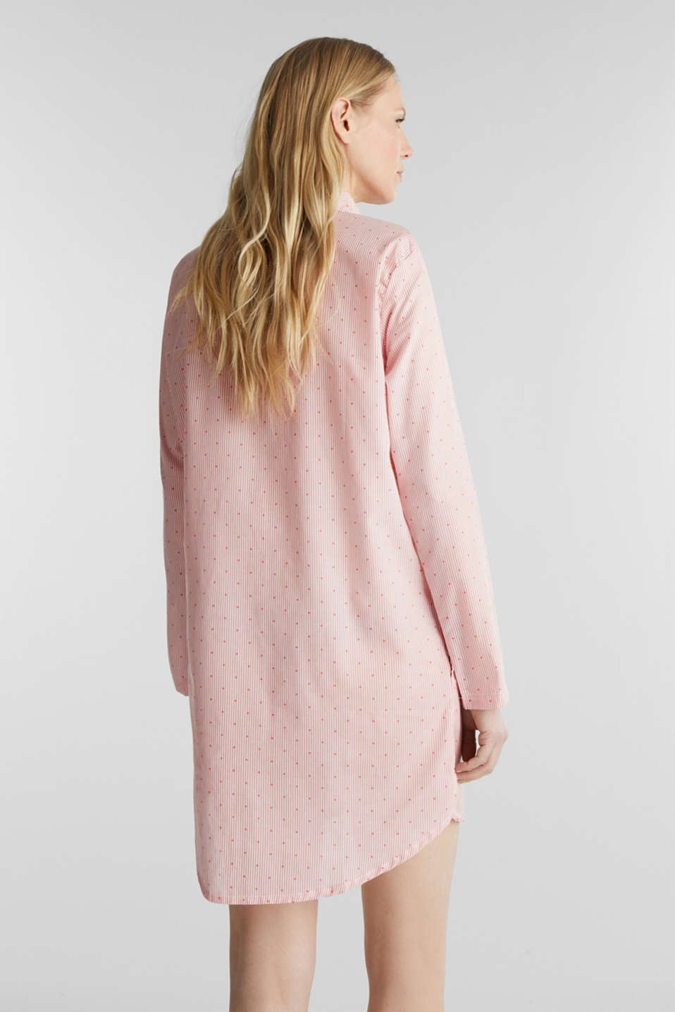 Woven nightshirt made of 100% cotton, CORAL RED, detail image number 2