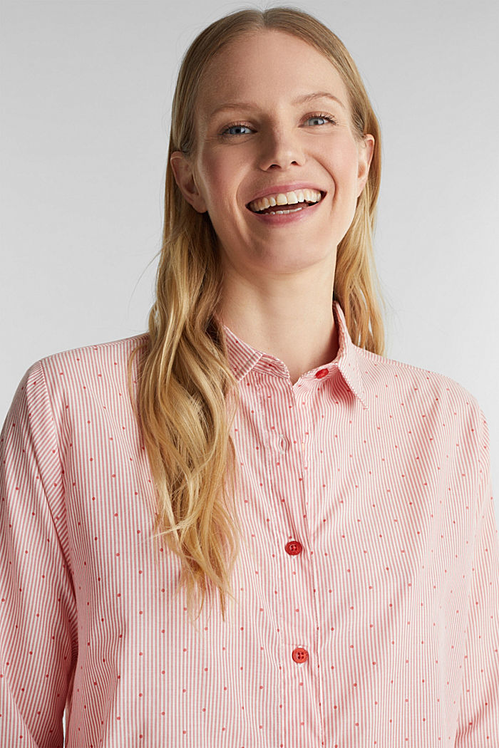 Woven nightshirt made of 100% cotton, CORAL RED, detail image number 5
