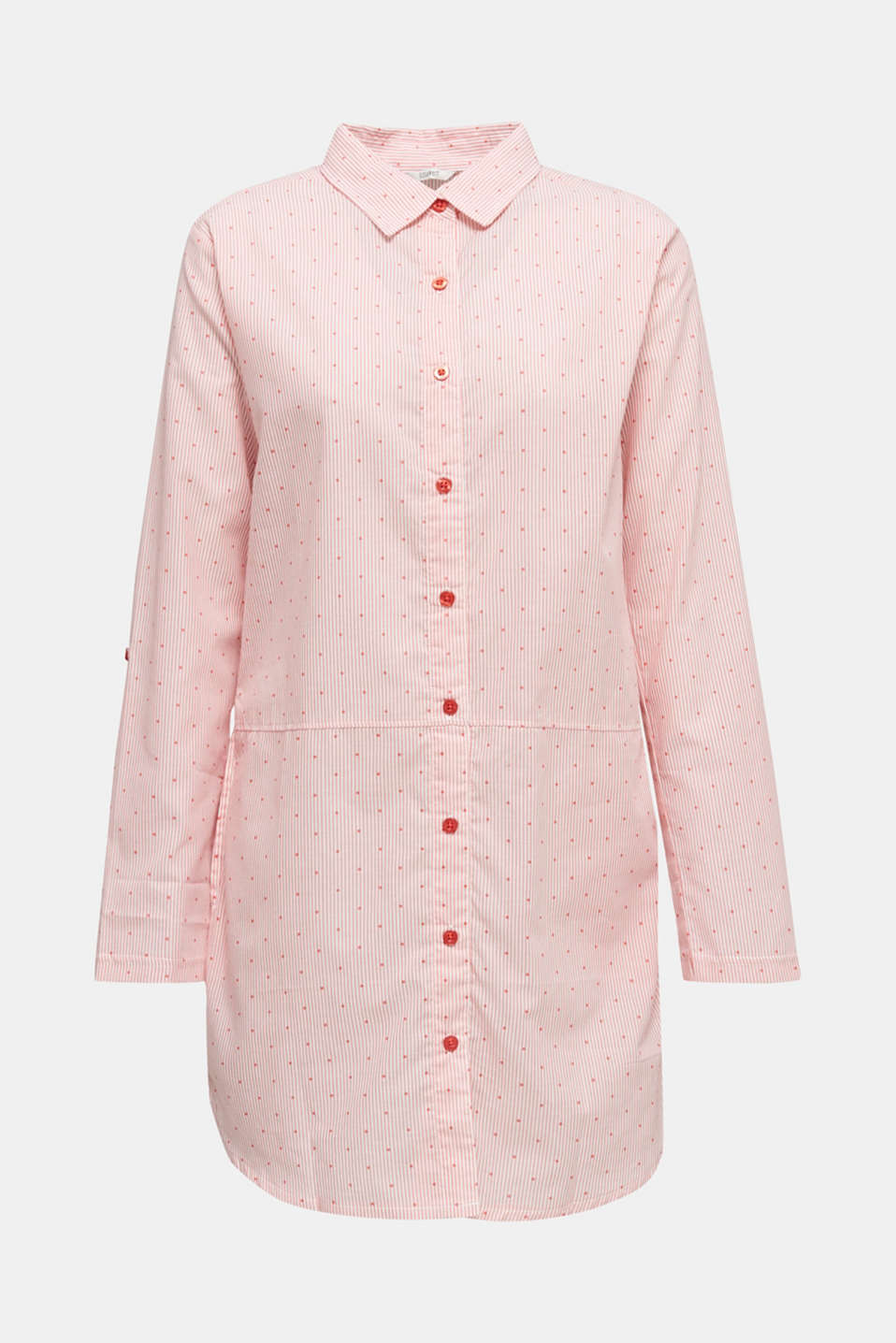 Woven nightshirt made of 100% cotton, CORAL RED, detail image number 6