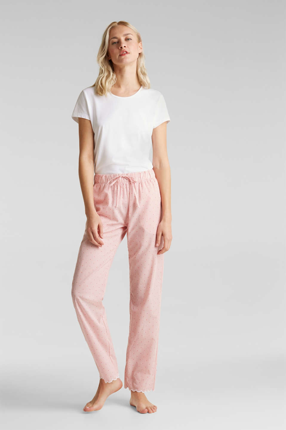 Esprit - Woven fabric pyjama bottoms, 100% cotton