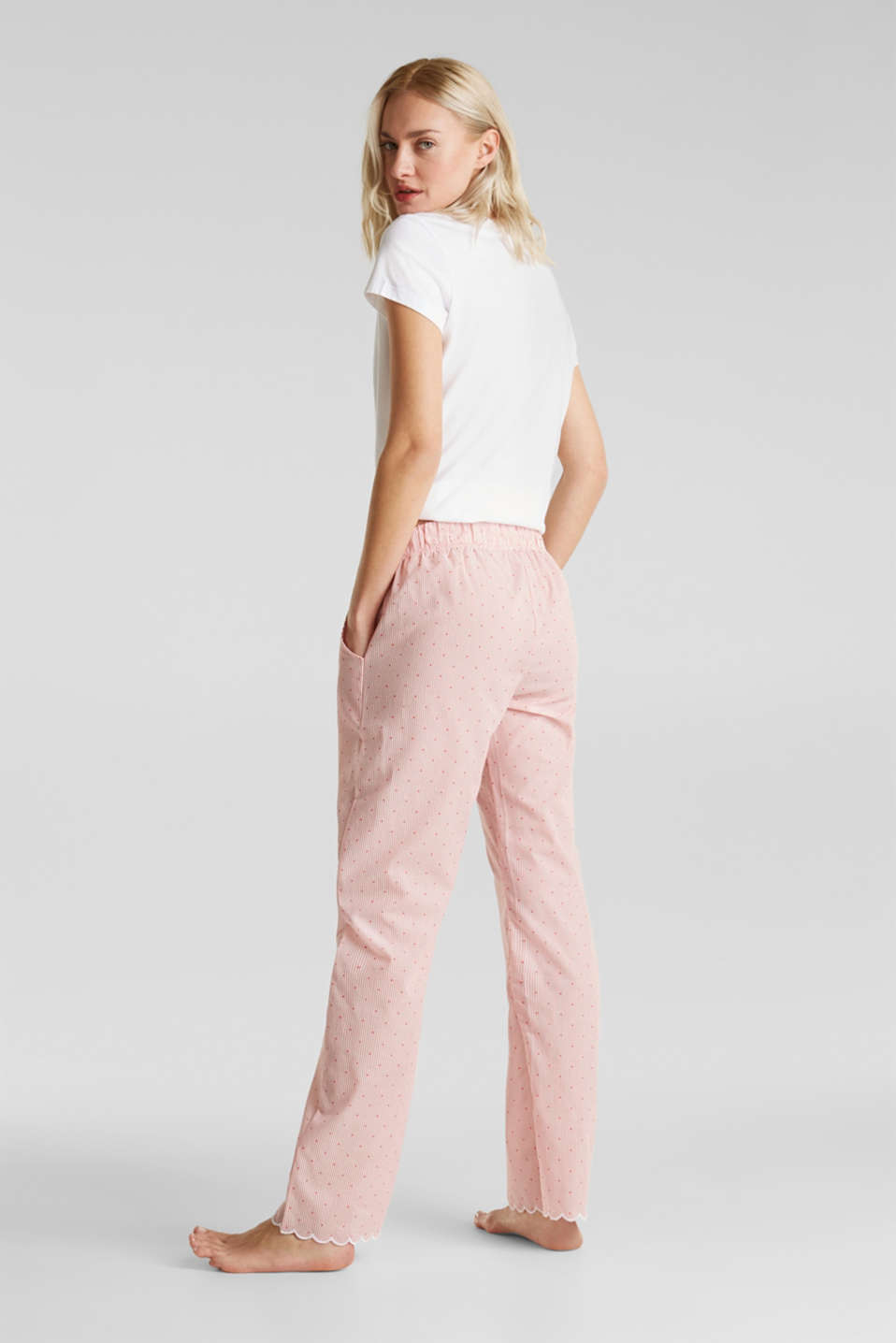 Pyjama bottoms made of 100% cotton, CORAL RED, detail image number 2