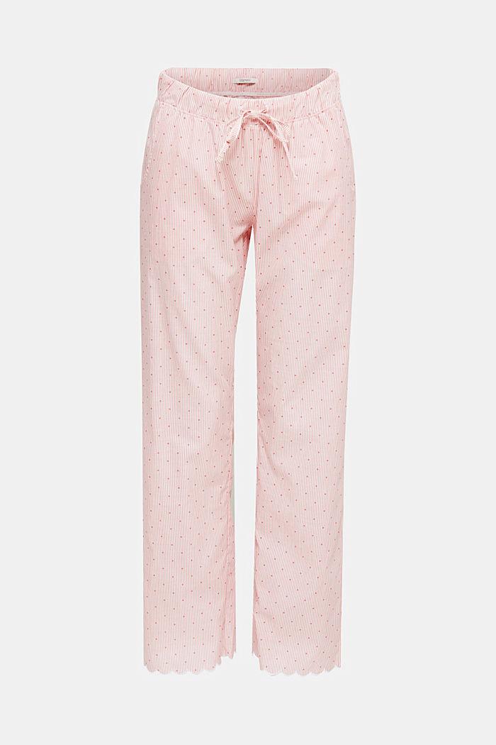 Pyjama-Pants aus 100% Baumwolle, CORAL RED, detail image number 4
