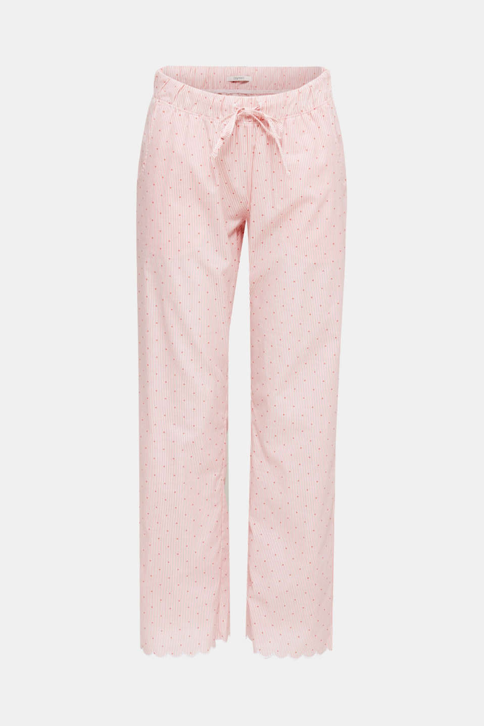 Pyjama bottoms made of 100% cotton, CORAL RED, detail image number 4