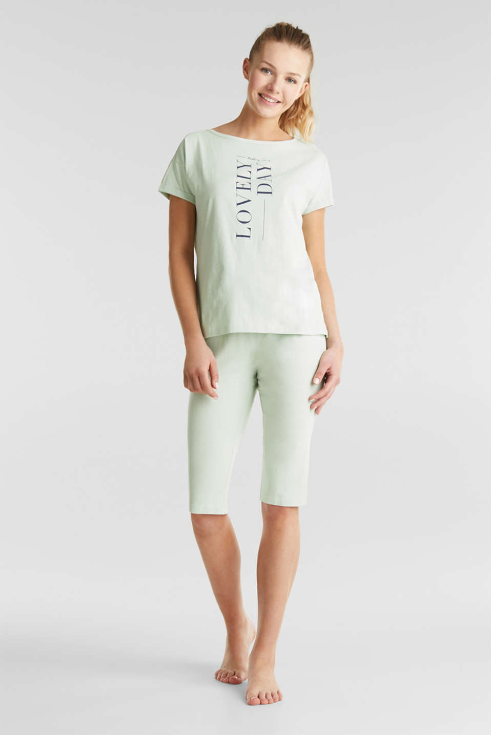 Esprit - Jersey pyjamas in 100% cotton