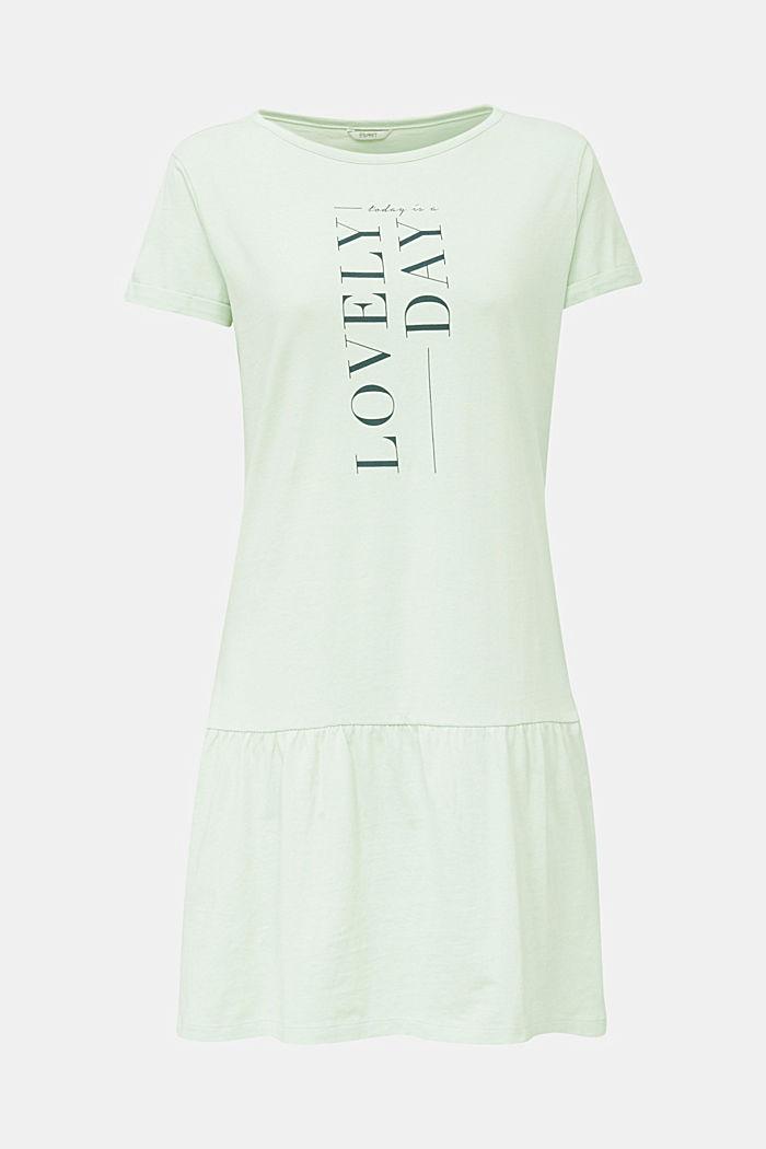 Jersey-Nachthemd, 100% Baumwolle, LIGHT AQUA GREEN, detail image number 4