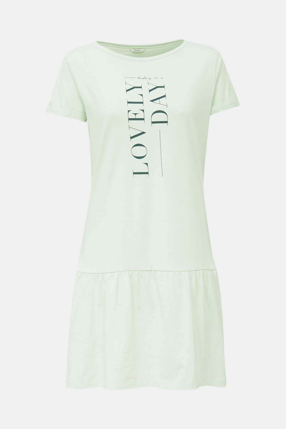 Jersey nightshirt, 100% cotton, LIGHT AQUA GREEN, detail image number 4