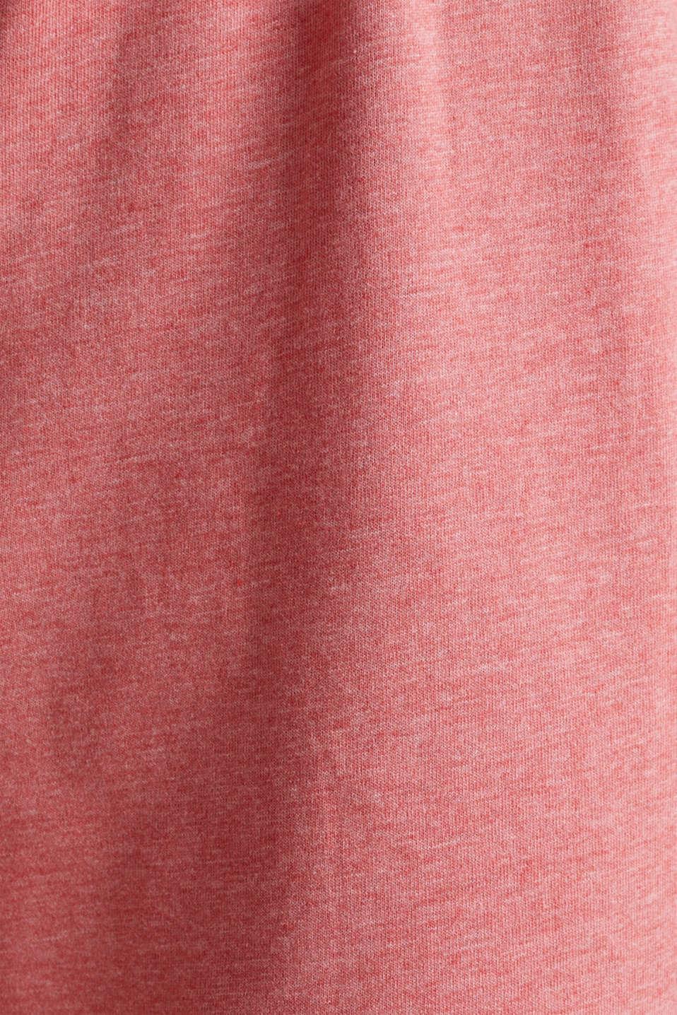 Blended cotton jersey pyjamas, CORAL RED, detail image number 4