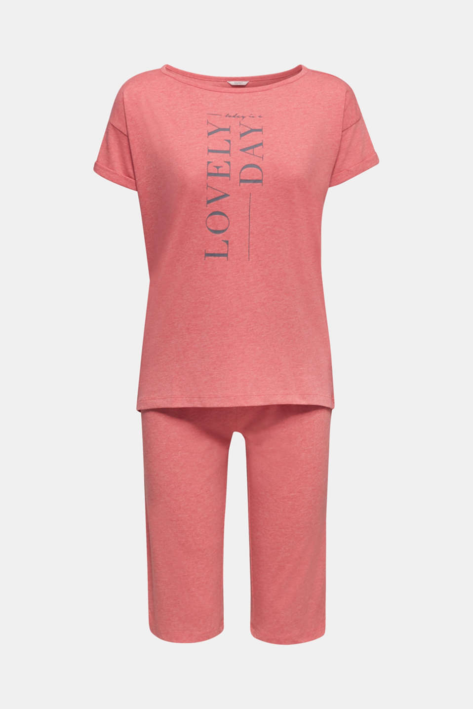 Blended cotton jersey pyjamas, CORAL RED, detail image number 6