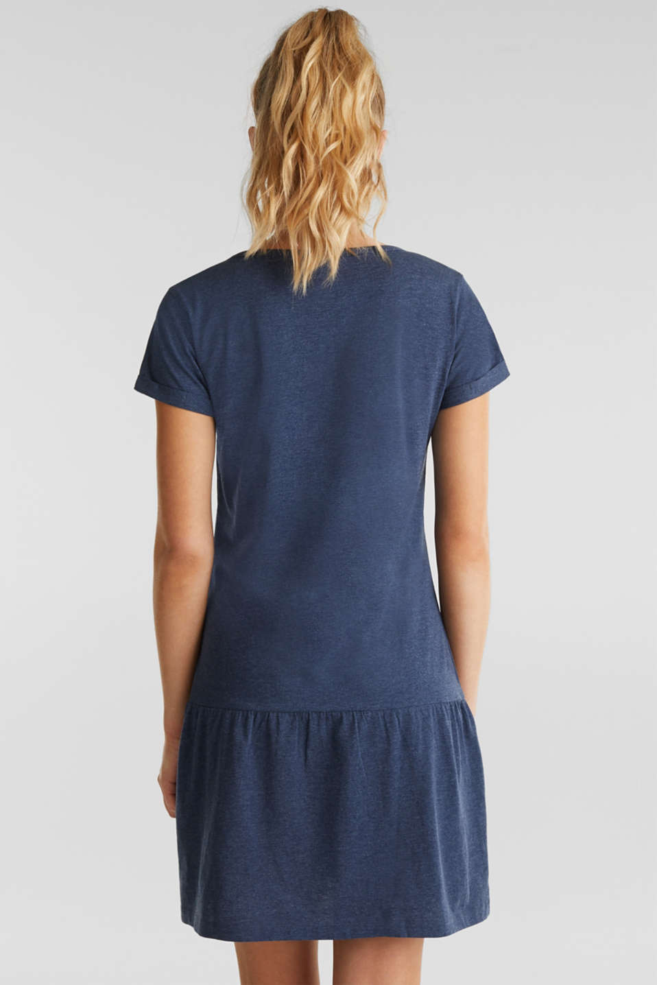 Jersey nightshirt with a print, NAVY 2, detail image number 1