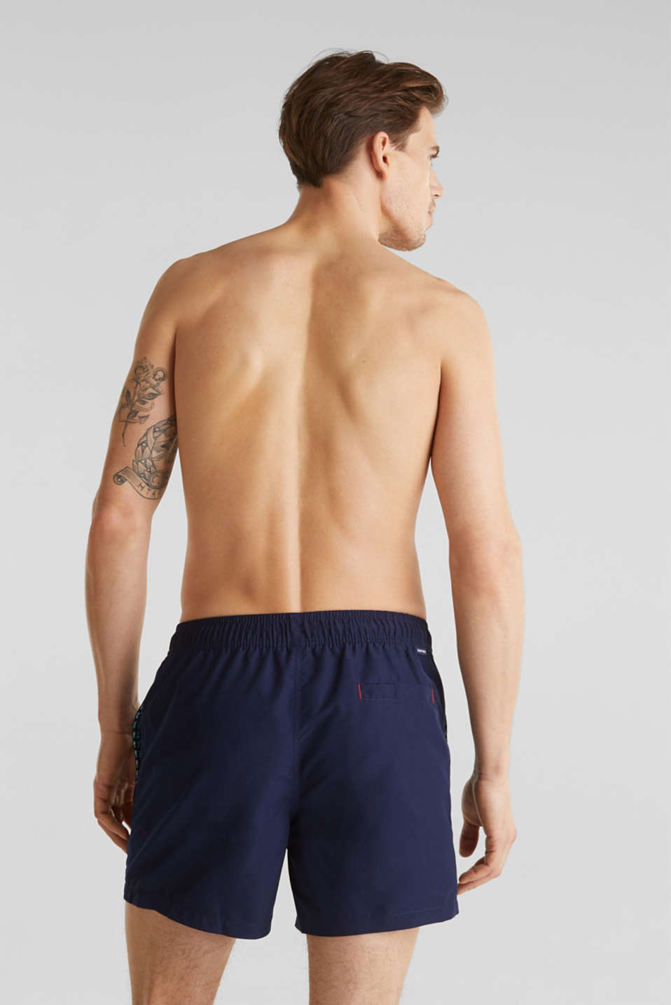 Swim shorts with print details, NAVY 2, detail image number 1