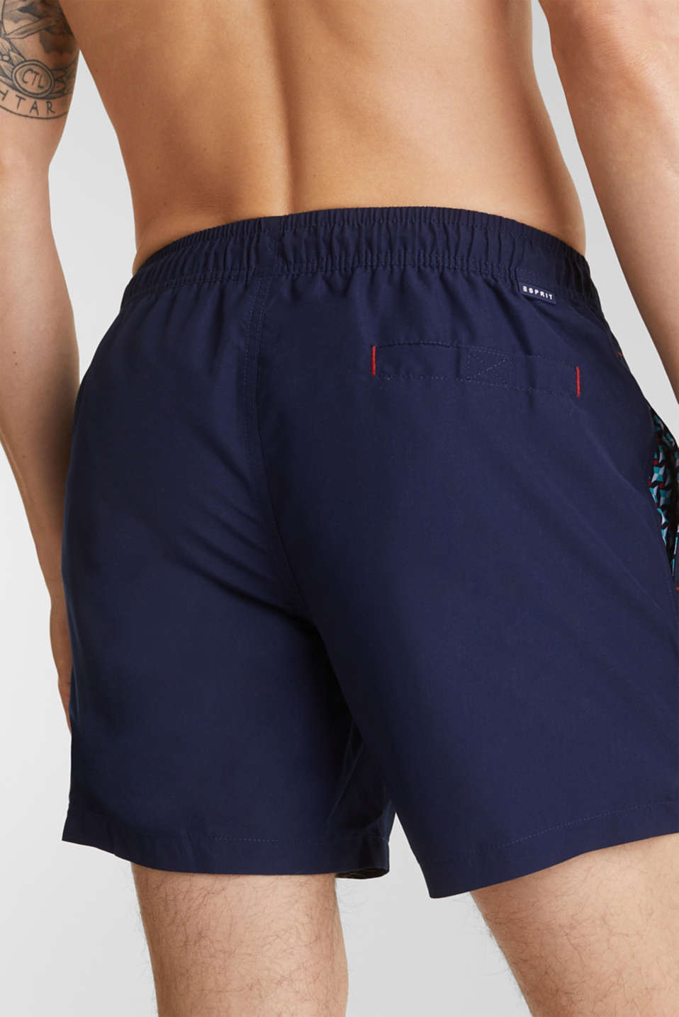 Swim shorts with print details, NAVY 2, detail image number 2