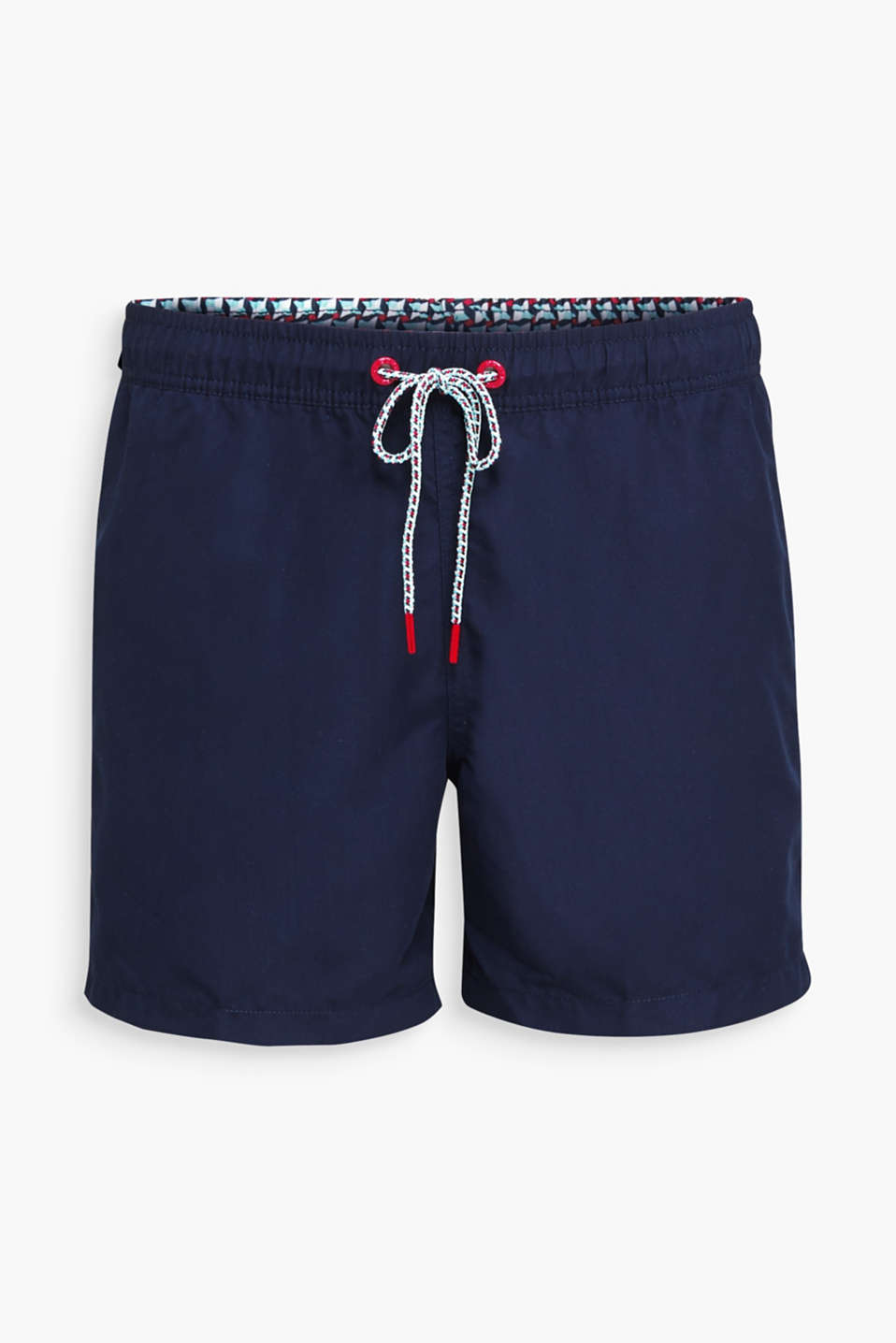 Swim shorts with print details, NAVY 2, detail image number 3