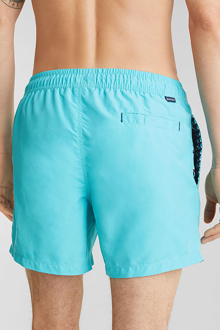 Swim shorts with print details, TURQUOISE, detail image number 2
