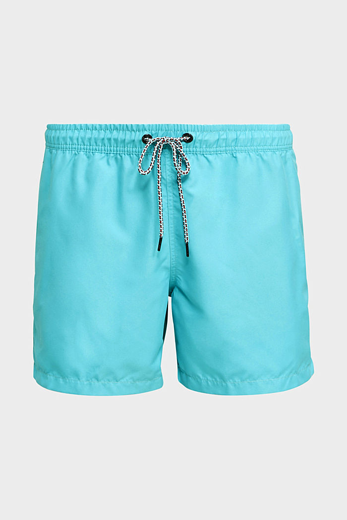 Swim shorts with print details, TURQUOISE, detail image number 3