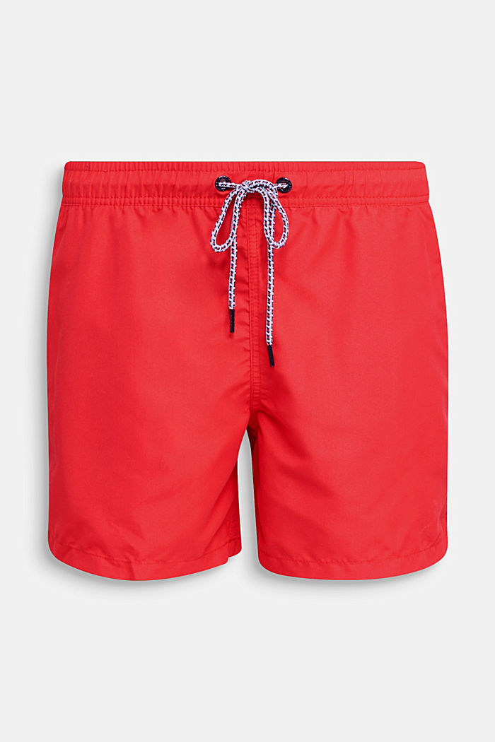 Swim shorts with print details, RED, detail image number 3