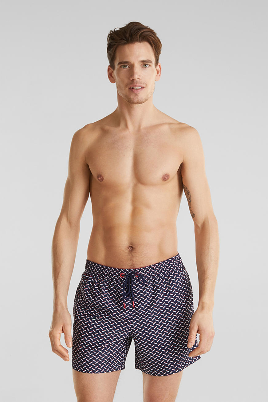 Swim shorts with a graphic print