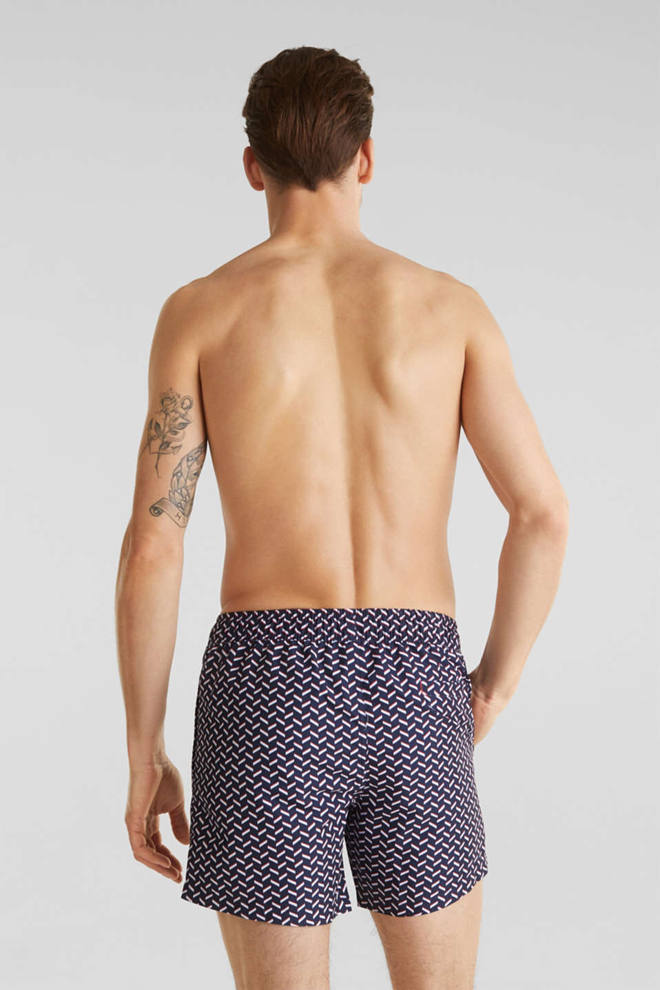 Swim shorts with a graphic print, NAVY 2, detail image number 1