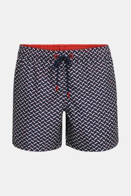 Swim shorts with a graphic print, NAVY 2, detail