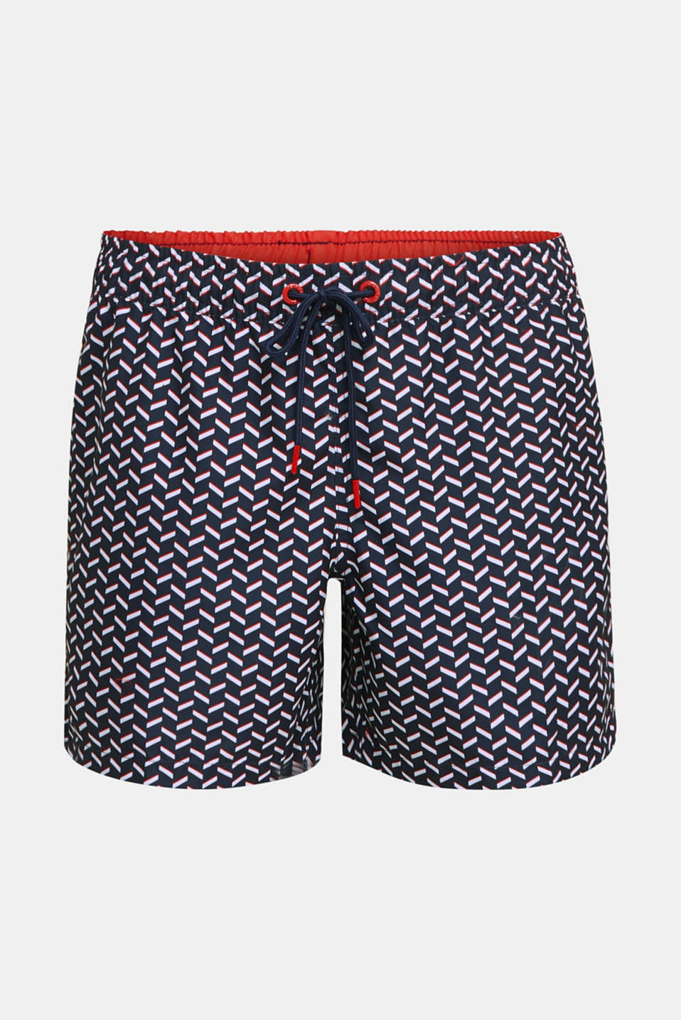 Swim shorts with a graphic print, NAVY 2, detail image number 3