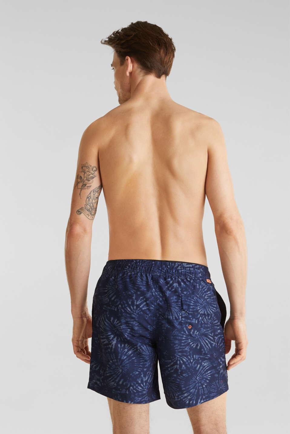 Swim shorts in a batik look, INK, detail image number 1