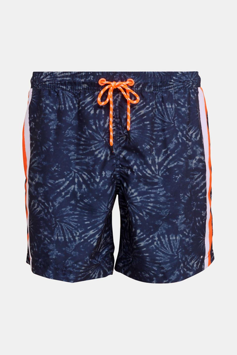 Swim shorts in a batik look, INK, detail image number 3